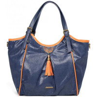 Sacs Femme Cabas / Sacs shopping Lili Petrol Sac cabas  Emilie Marine / Orange bleu
