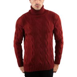 Vêtements Homme Pulls Monsieurmode Pull à maille pour homme Pull 700 rouge bordeaux Rouge