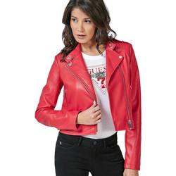Vêtements Femme Vestes en cuir / synthétiques Guess Veste Courte Biker Femme Eleonora W83L21 Rose