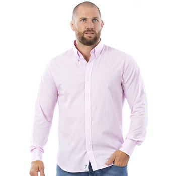 Vêtements Homme Chemises manches longues Ruckfield Chemise rose à manches longues Rugby Bleu