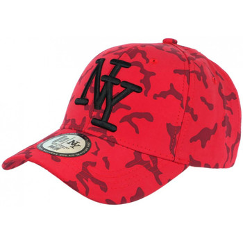 Accessoires textile Homme Casquettes Hip Hop Honour Casquette NY Camouflage Rouge et Noire Tendance Baseball Kaska Rouge