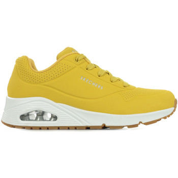 Chaussures Femme Baskets mode Skechers Uno Stand On Air jaune