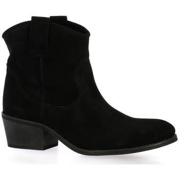 Chaussures Femme Boots Exit Boots cuir velours Noir