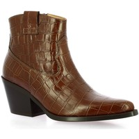 Chaussures Femme Boots Exit Boots cuir croco Cognac