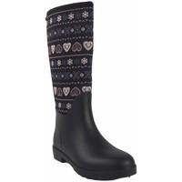 Chaussures Femme Bottes de pluie Kelara Lady K01108 noir Multicolore