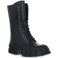 Chaussures Femme Bottines New Rock WALL ITALI NERO TOWER Nero