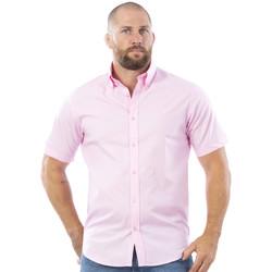 Vêtements Homme Chemises manches courtes Ruckfield Chemise rose à manches courtes Rugby Essentiel Bleu