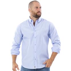 Vêtements Homme Chemises manches longues Ruckfield Chemise manches longues bleu Bleu