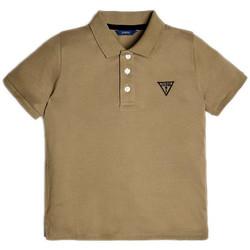 Vêtements Garçon Polos manches courtes Guess Polo Garçon Logo L71P21 Vert Kaki (rft)