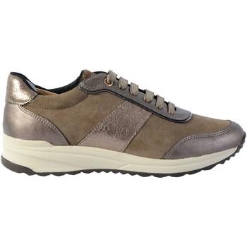 Chaussures Femme Baskets mode Geox Basket Cuir D Airell A Beige