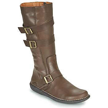 Chaussures Femme Bottes ville Casual Attitude NIBOOT Marron