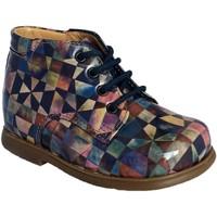 Chaussures Fille Bottines Pom d'Api Nioupi Derby Kaleido lilas