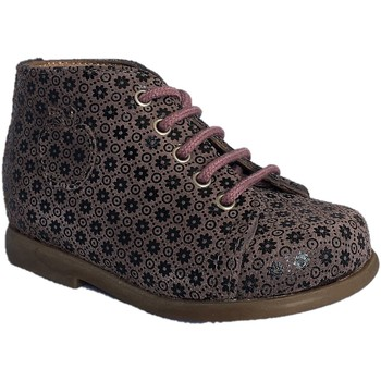 Chaussures Fille Bottines Pom d'Api Nioupi Primo Mini Flower rose