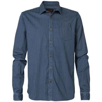 Vêtements Homme Chemises manches longues Petrol Industries SIL416 5049 FADED INDIGO Bleu marine