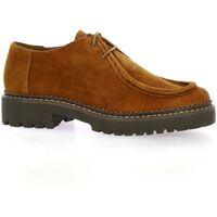 Chaussures Femme Derbies Exit Derby cuir velours Cognac