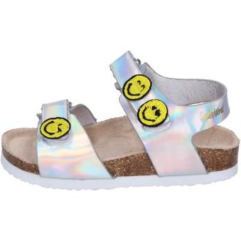 Chaussures Fille Sandales et Nu-pieds Smiley BK507 Argenté