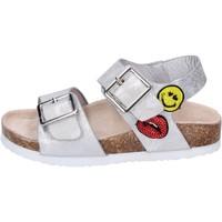 Chaussures Fille Sandales et Nu-pieds Smiley BK509 Argenté