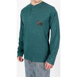 Vêtements Homme Pyjamas / Chemises de nuit Admas For Men Tenue d'intérieur pyjama pantalon LouLou British vert Admas Vert