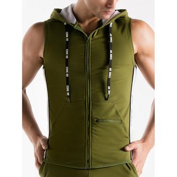 Vêtements Homme Vestes de survêtement Code 22 Veste à capuche sans manches Thrust Code22 Kaki