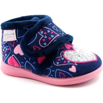 Chaussures Fille Chaussons bébés Grunland GRU-I20-PA0635-BL Blu