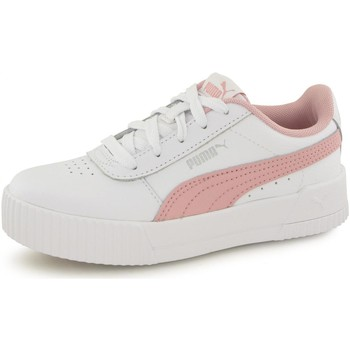 Chaussures Enfant Baskets mode Puma Baskets Carina Leather blanc