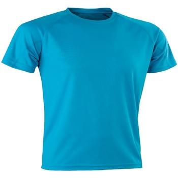 Vêtements Homme T-shirts manches courtes Spiro SR287 Bleu Turquoise