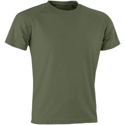 Vêtements Homme T-shirts manches courtes Spiro SR287 kaki foncé