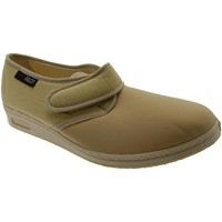 Chaussures Femme Chaussons Gaviga chausson Velcro coton stretch beige physiothérapie extra large d blu