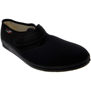 Chaussures Chaussons Gaviga chausson Velcro coton stretch physiothérapie noir extra large de nero