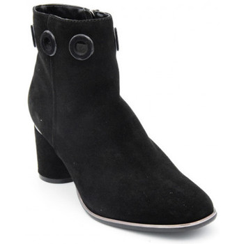 Chaussures Femme Boots Regarde Le Ciel irene-13 nubuck Noir