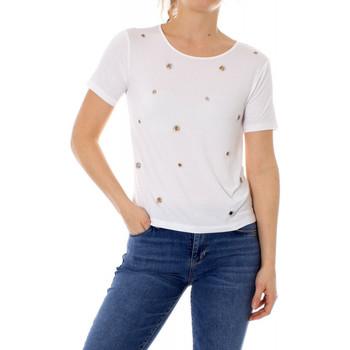 Vêtements Femme T-shirts manches courtes Guess T-Shirt Femme Eyelets W91P03 Blanc Blanc