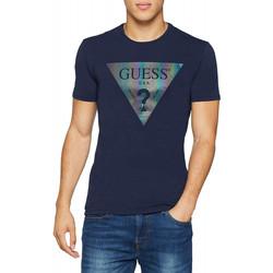 Vêtements Homme T-shirts manches courtes Guess T-Shirt Homme COLOR SHADES Bleu Marine Bleu