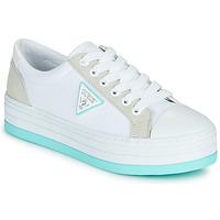 Chaussures Femme Baskets basses Guess BRODEY Blanc / Bleu