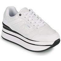 Chaussures Femme Baskets basses Guess HANSIN Blanc