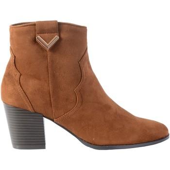 Chaussures Femme Bottines The Divine Factory Bottine Talon S/Chameau