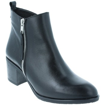 Chaussures Femme Bottines Amoa Bottines CHENEY Zip SERPENT NOIR