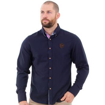 Vêtements Homme Chemises manches longues Ruckfield Chemise marine élégance Bleu