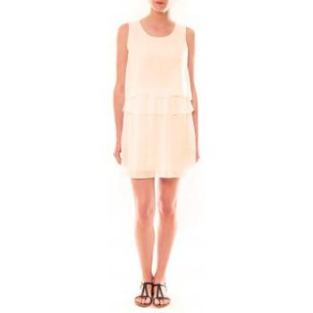 Vêtements Femme Robes courtes Carla Conti Robe TROIS  Beige Beige