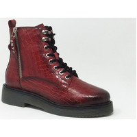 Chaussures Baskets mode Bugatti NERIA BOOTS ROUGE REPTILE Rouge