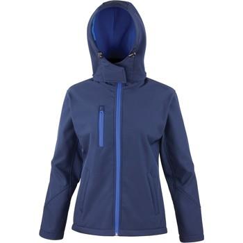 Vêtements Femme Vestes de survêtement Result Veste  Softshell Capuche Femme Tx Performance bleu marine/bleu royal