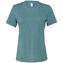 Vêtements Femme T-shirts manches courtes Bella + Canvas BL6400 Bleu horizon chiné
