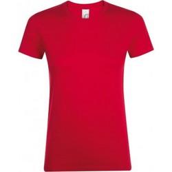 Vêtements Femme T-shirts manches courtes Sols 01825 Rouge