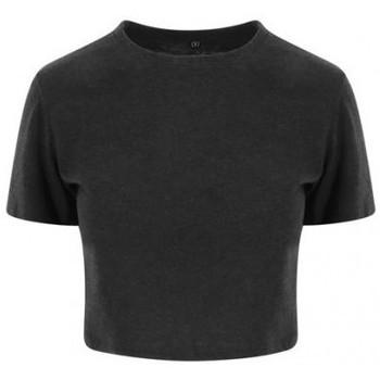 Vêtements Femme T-shirts manches courtes Awdis JT006 Noir chiné