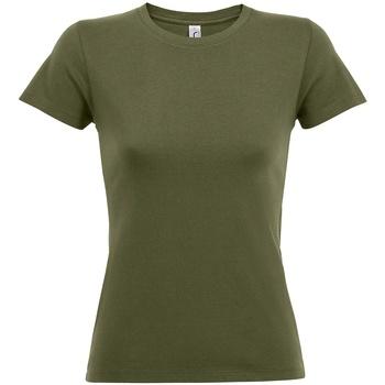 Vêtements Femme T-shirts manches courtes Sols 01825 Vert kaki