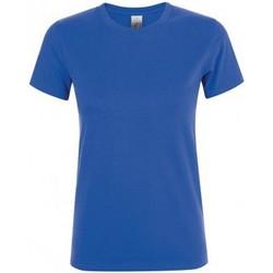 Vêtements Femme T-shirts manches courtes Sols 01825 Bleu roi