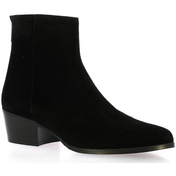 Chaussures Femme Boots Ngy Boots cuir velours Noir