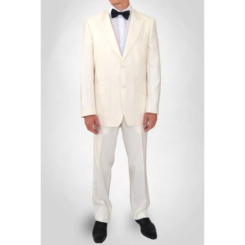 Vêtements Homme Costumes  Kebello Costume cérémonie Taille : H Blanc 46V-38P Blanc