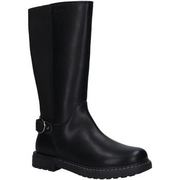 Chaussures Fille Bottes ville Geox J949QF 0BCNH J ECLAIR Negro
