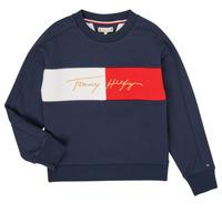 Vêtements Fille Sweats Tommy Hilfiger KG0KG05497-C87-J Marine