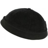 Accessoires textile Homme Bonnets Léon Montane Bonnet Docker Velours Noir en Coton Chapelier Hodack Noir